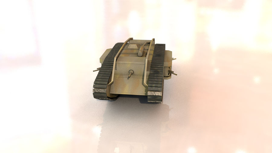 Vrouwelijke militaire tank royalty-free 3d model - Preview no. 15