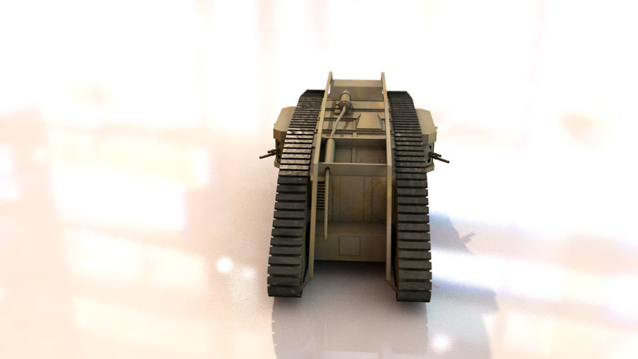 Vrouwelijke militaire tank royalty-free 3d model - Preview no. 8