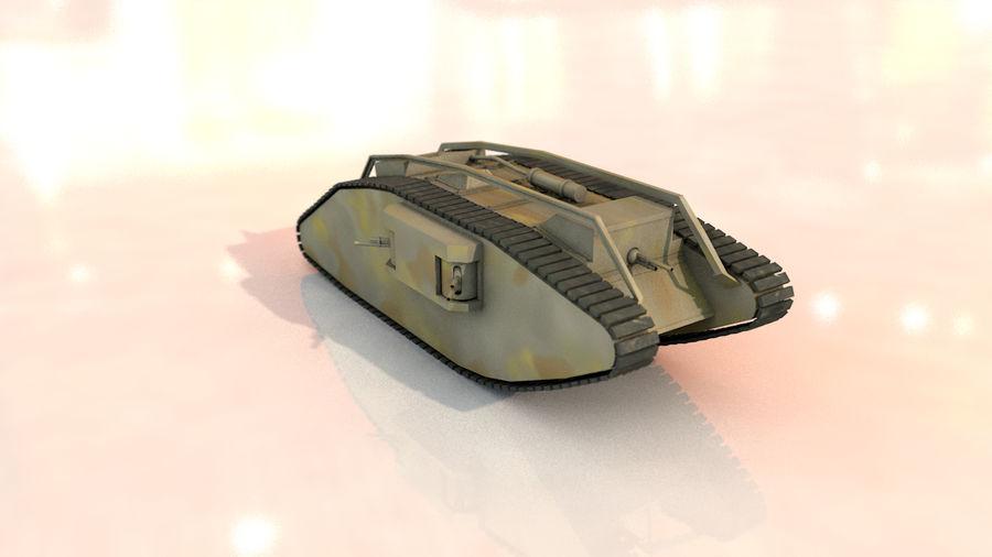Vrouwelijke militaire tank royalty-free 3d model - Preview no. 13