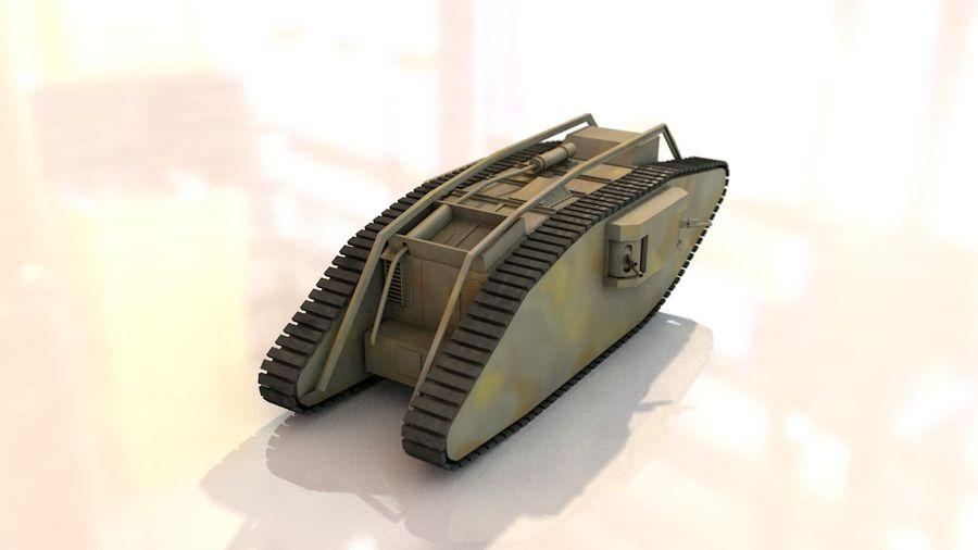 Vrouwelijke militaire tank royalty-free 3d model - Preview no. 9