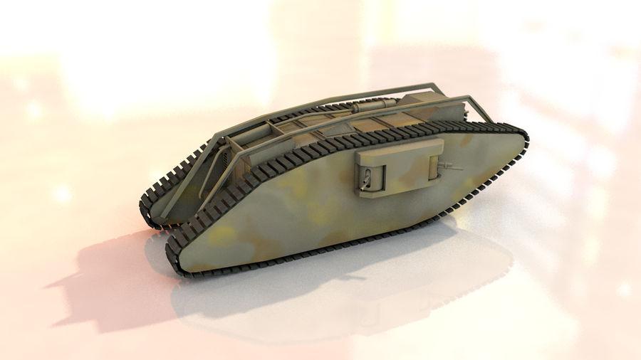 Vrouwelijke militaire tank royalty-free 3d model - Preview no. 10