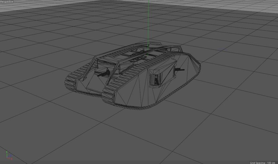 Vrouwelijke militaire tank royalty-free 3d model - Preview no. 18