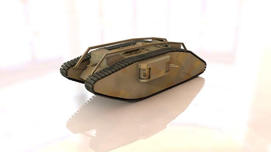 Vrouwelijke militaire tank royalty-free 3d model - Preview no. 2