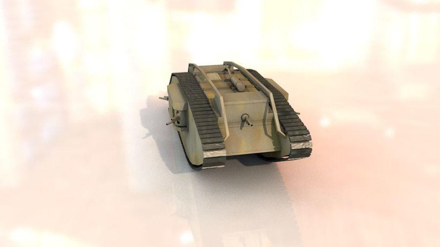 Vrouwelijke militaire tank royalty-free 3d model - Preview no. 14