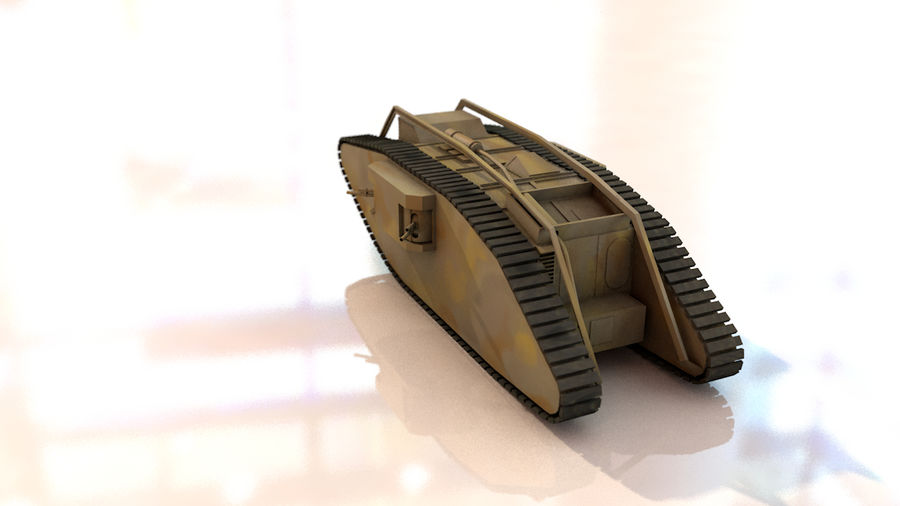 Vrouwelijke militaire tank royalty-free 3d model - Preview no. 7