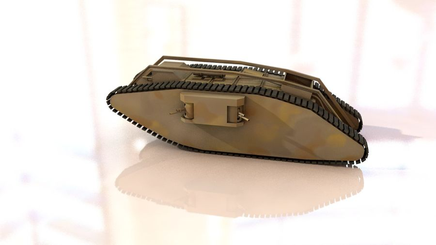 Vrouwelijke militaire tank royalty-free 3d model - Preview no. 5