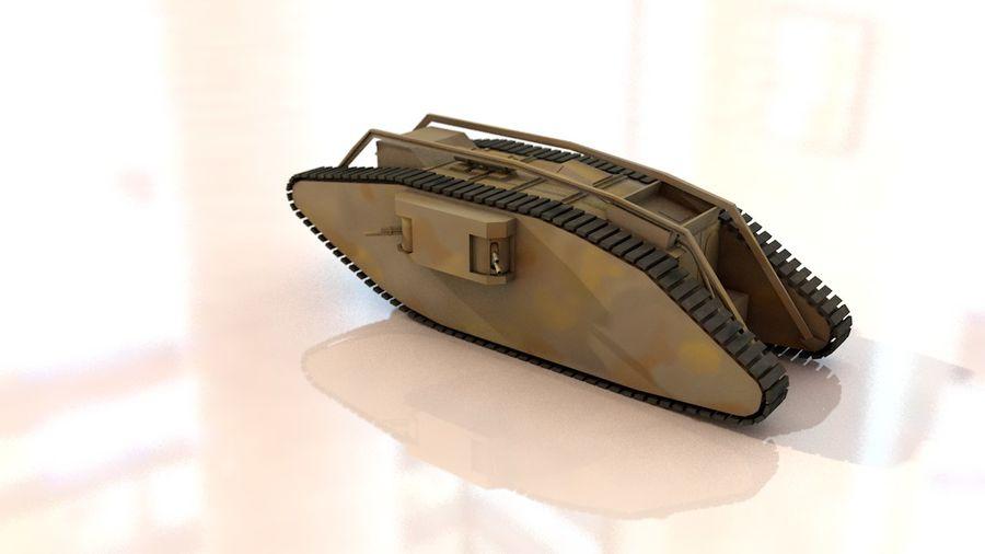 Vrouwelijke militaire tank royalty-free 3d model - Preview no. 6