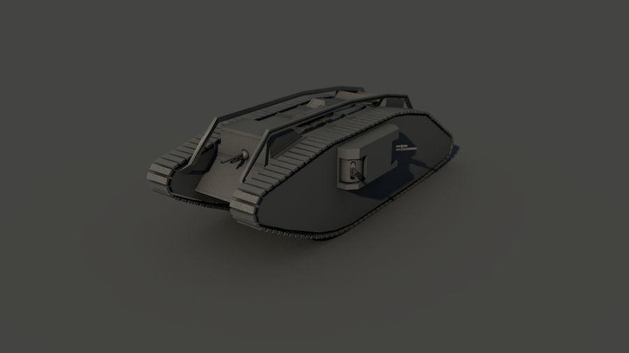 Vrouwelijke militaire tank royalty-free 3d model - Preview no. 17