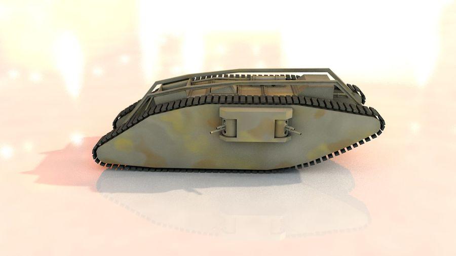 Vrouwelijke militaire tank royalty-free 3d model - Preview no. 11