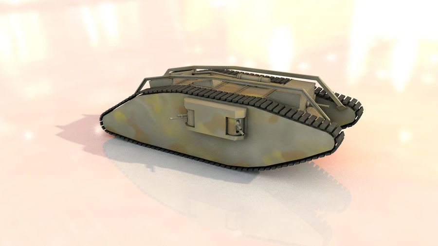 Vrouwelijke militaire tank royalty-free 3d model - Preview no. 12