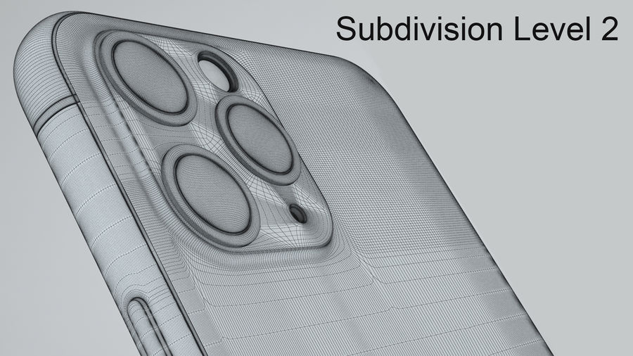 Apple IPhone 11 Pro royalty-free 3d model - Preview no. 29