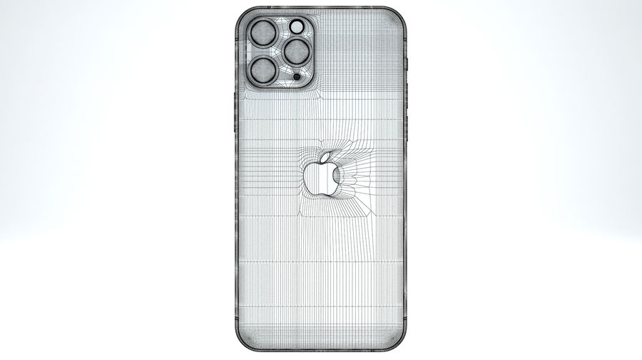 Apple IPhone 11 Pro royalty-free 3d model - Preview no. 21