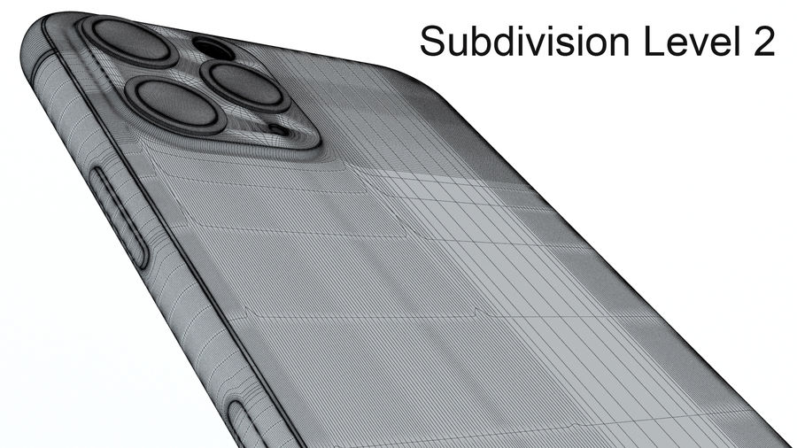 Apple IPhone 11 Pro royalty-free 3d model - Preview no. 25