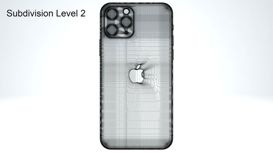 Apple IPhone 11 Pro royalty-free 3d model - Preview no. 27