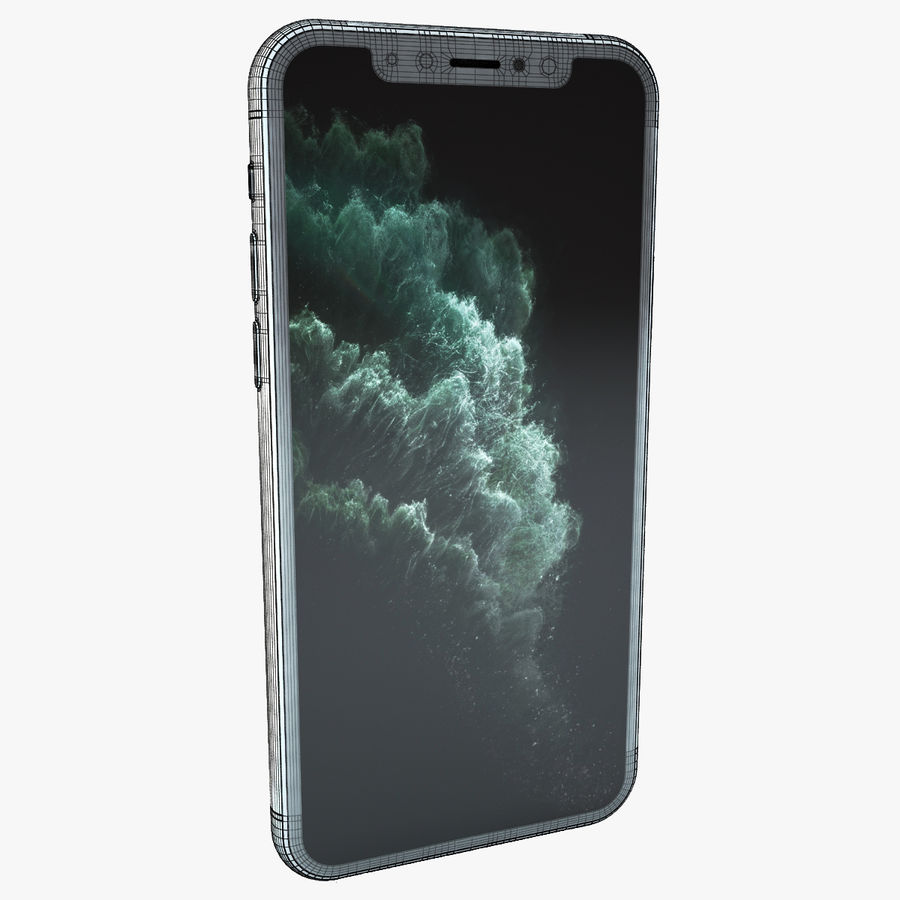 Apple IPhone 11 Pro royalty-free 3d model - Preview no. 5