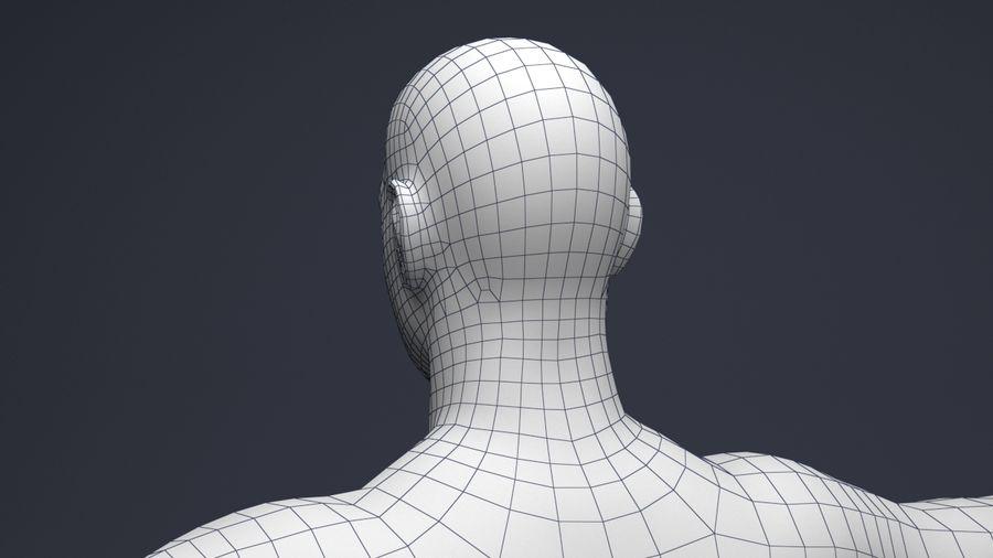 Basemesh male low poly royalty-free 3d model - Preview no. 6
