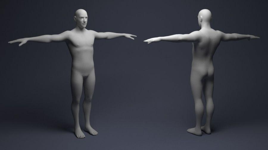 Basemesh male low poly royalty-free 3d model - Preview no. 2