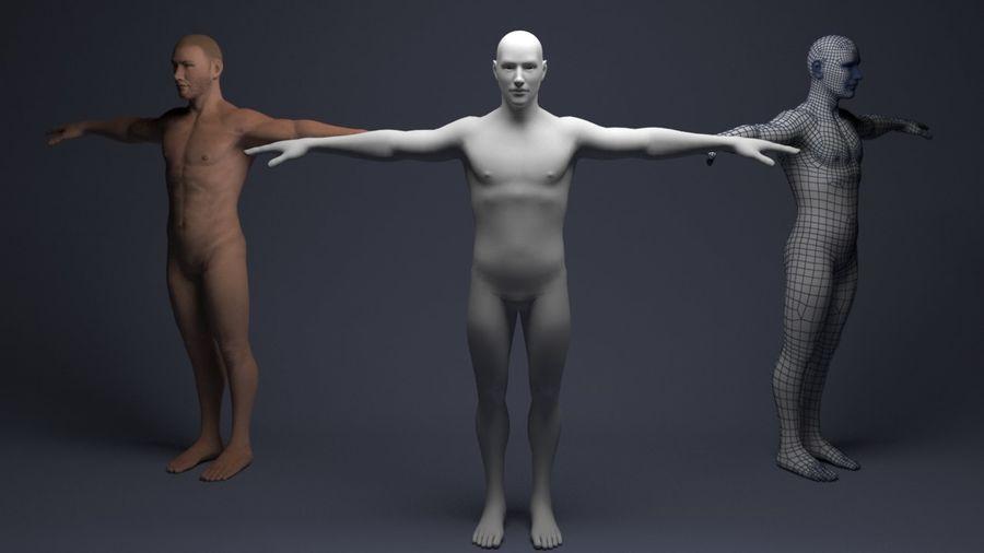 Basemesh male low poly royalty-free 3d model - Preview no. 1