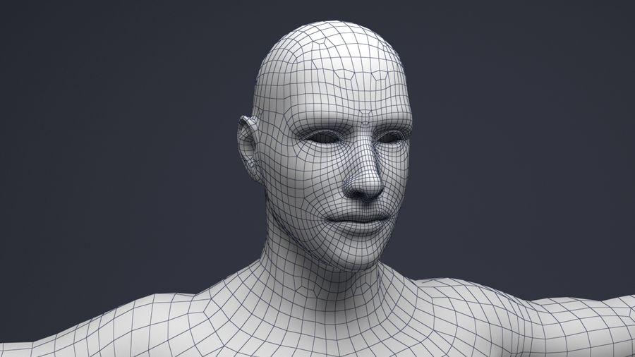Basemesh male low poly royalty-free 3d model - Preview no. 5