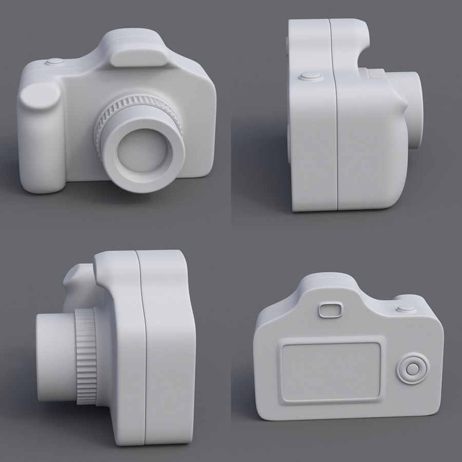Toy Camera royalty-free 3d model - Preview no. 6