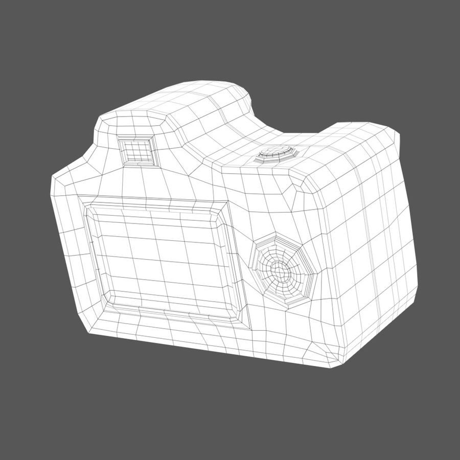 Toy Camera royalty-free 3d model - Preview no. 5