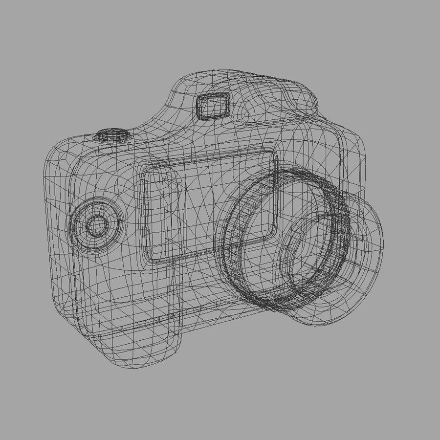 Toy Camera royalty-free 3d model - Preview no. 9