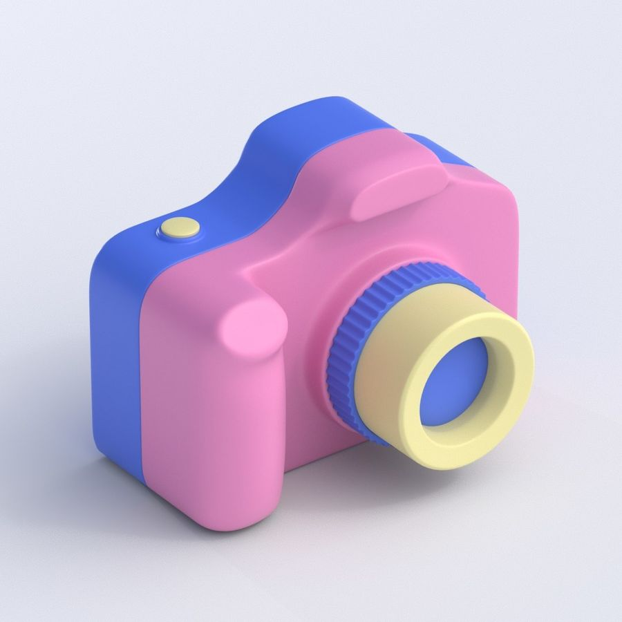 Toy Camera royalty-free 3d model - Preview no. 1