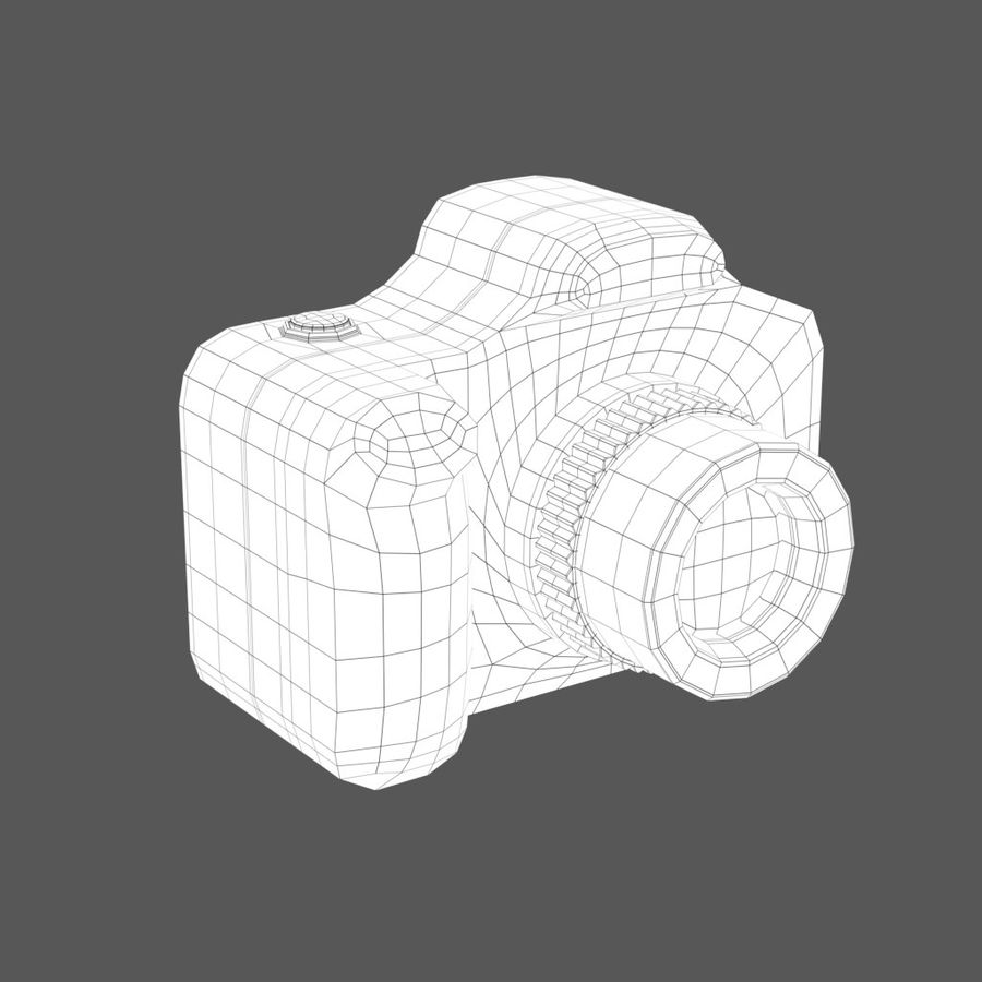 Toy Camera royalty-free 3d model - Preview no. 2