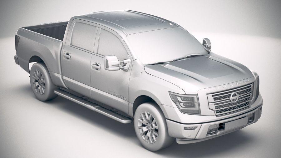 Nissan Titan 2020 royalty-free 3d model - Preview no. 22