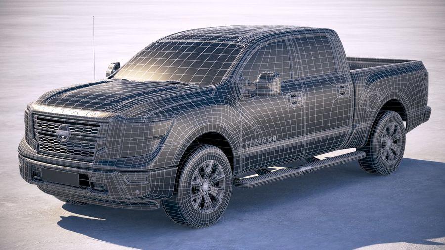 Nissan Titan 2020 royalty-free 3d model - Preview no. 27