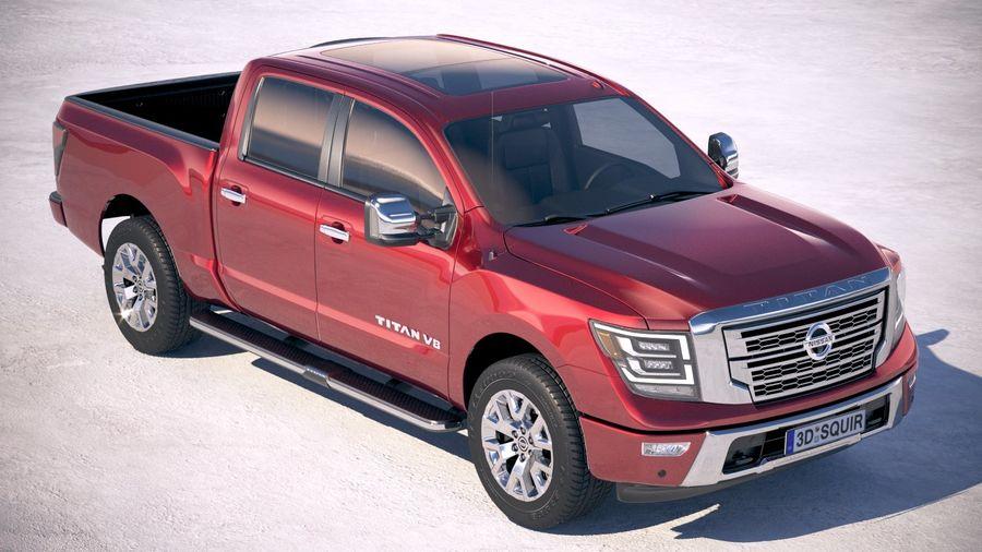 Nissan Titan 2020 royalty-free 3d model - Preview no. 12