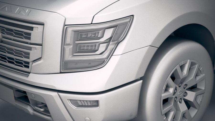 Nissan Titan 2020 royalty-free 3d model - Preview no. 19