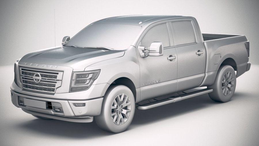 Nissan Titan 2020 royalty-free 3d model - Preview no. 18