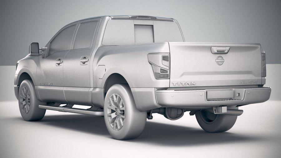 Nissan Titan 2020 royalty-free 3d model - Preview no. 24