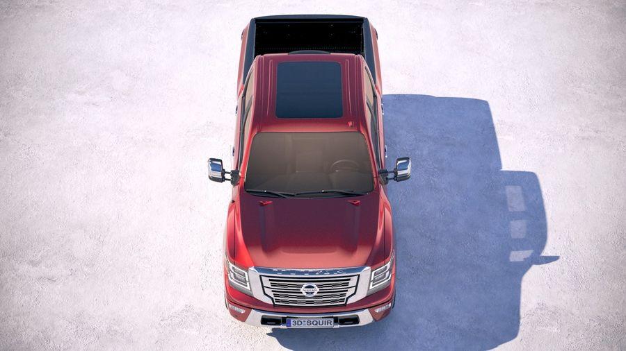 Nissan Titan 2020 royalty-free 3d model - Preview no. 9