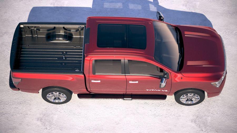 Nissan Titan 2020 royalty-free 3d model - Preview no. 8