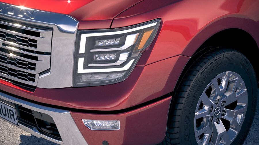 Nissan Titan 2020 royalty-free 3d model - Preview no. 3
