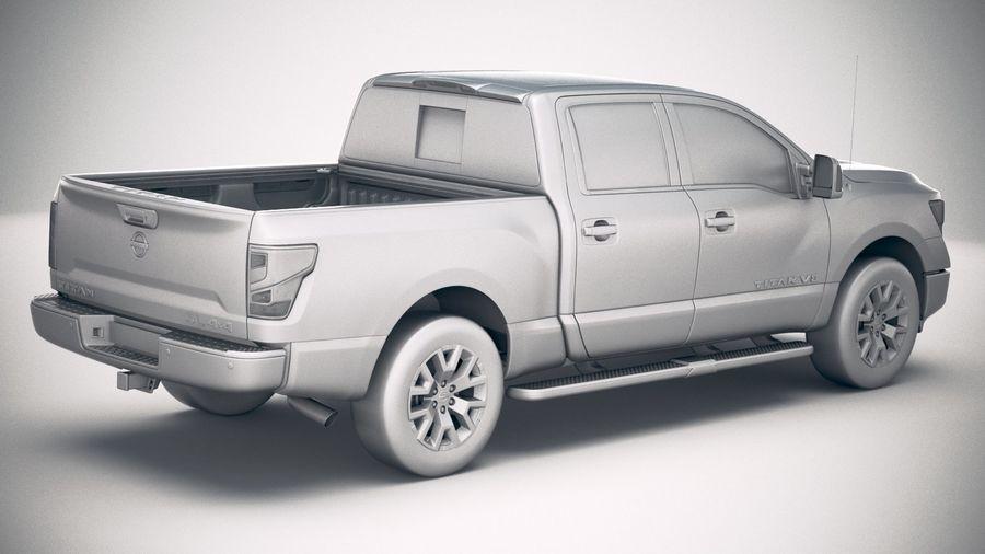 Nissan Titan 2020 royalty-free 3d model - Preview no. 21