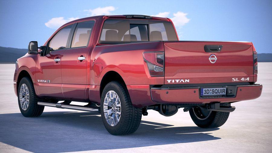 Nissan Titan 2020 royalty-free 3d model - Preview no. 14
