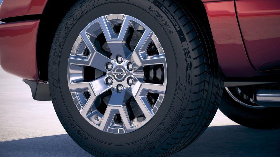 Nissan Titan 2020 royalty-free 3d model - Preview no. 15