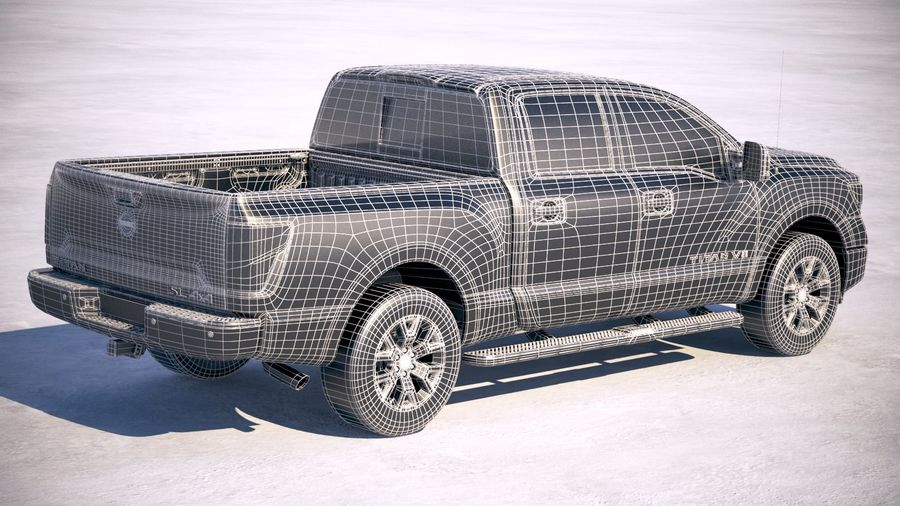 Nissan Titan 2020 royalty-free 3d model - Preview no. 28