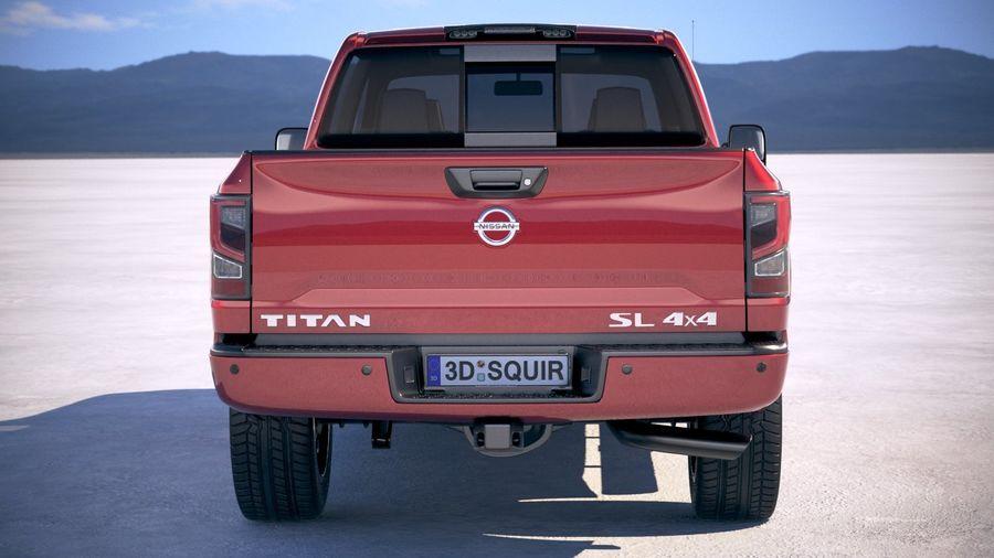 Nissan Titan 2020 royalty-free 3d model - Preview no. 11