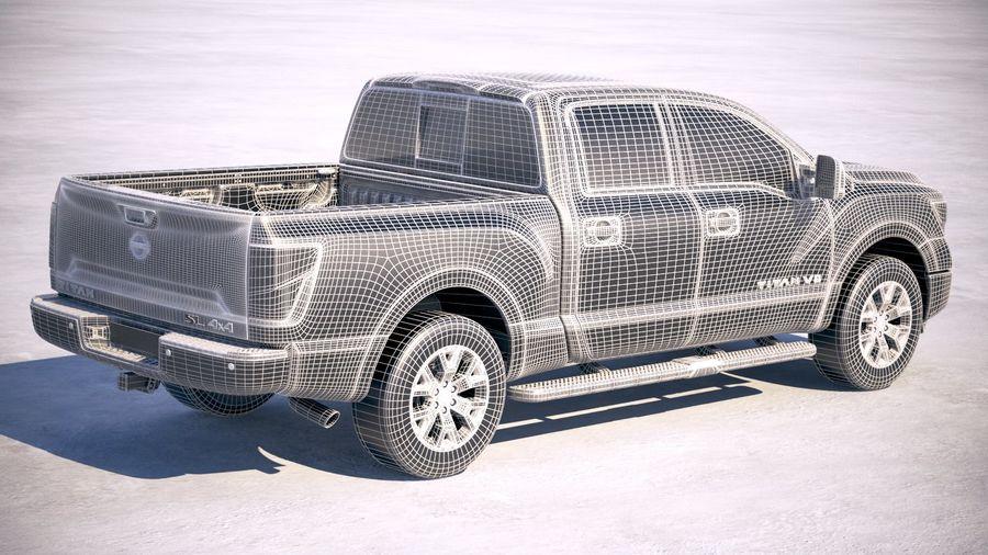 Nissan Titan 2020 royalty-free 3d model - Preview no. 26