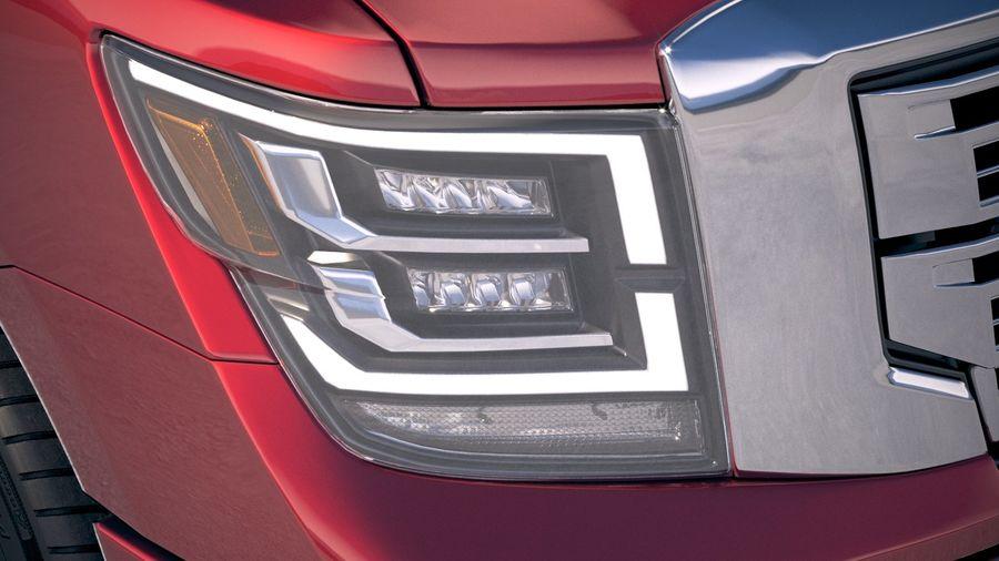 Nissan Titan 2020 royalty-free 3d model - Preview no. 16