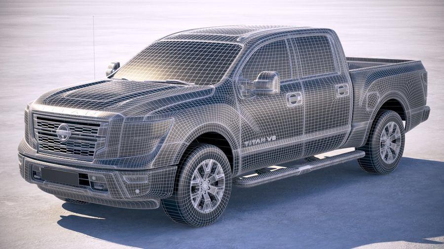 Nissan Titan 2020 royalty-free 3d model - Preview no. 25