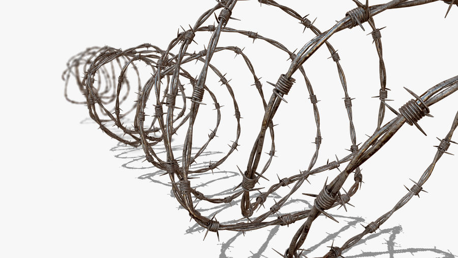 Razor Barbed Wire PBR royalty-free 3d model - Preview no. 5
