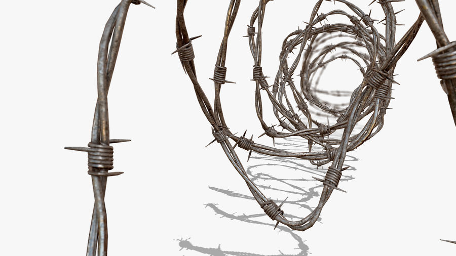 Razor Barbed Wire PBR royalty-free 3d model - Preview no. 6