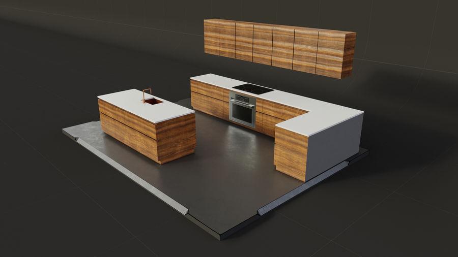 Mueble de cocina royalty-free modelo 3d - Preview no. 2