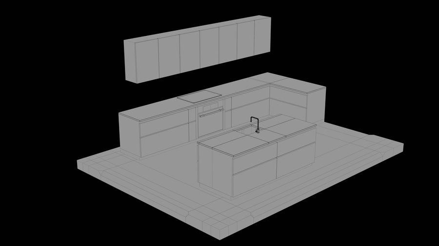 Mueble de cocina royalty-free modelo 3d - Preview no. 20