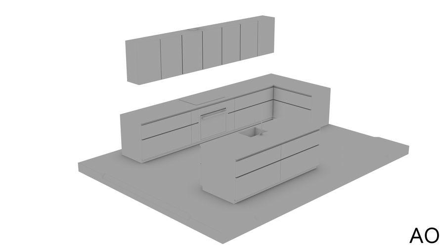 Mueble de cocina royalty-free modelo 3d - Preview no. 14